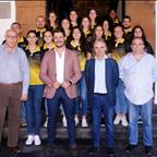 Recepción de Luis Yeray Gutiérrez a la primera plantilla del CV Aguere
