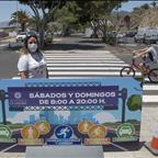 Buena acogida al circuito para paseo y deporte habilitado en la Avenida Los Majuelos