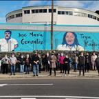 La Laguna homenajea a Teya Ramos y al Parri II con un mural conmemorativo en las instalaciones del Complejo Deportivo Montaña de Taco