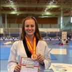Andrea Suárez, medalla de bronce en el Campeonato de España Absoluto 2021 en la categoría de -67 Kg